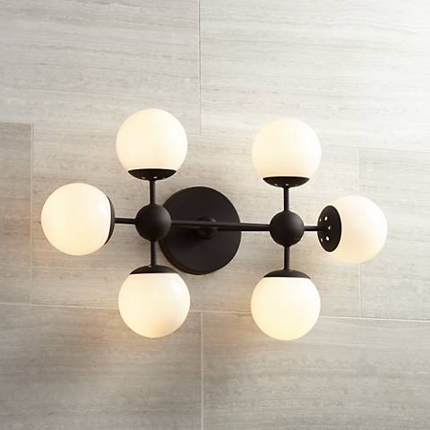 "Possini Euro Metro 24 1/2""W Dark Brown 6-Light Fixture"