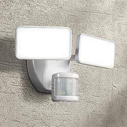 White 2000 Lumen Motion-Activated LED Security Light