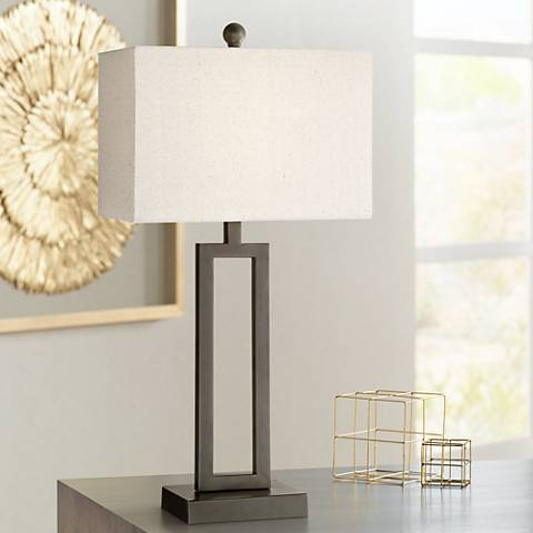 Aston Black Modern Table Lamp