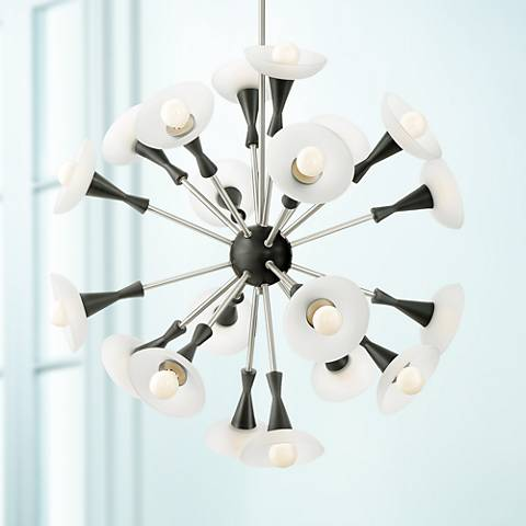 "Possini Euro Glenville 30 1/2""W Brushed Nickel Chandelier"