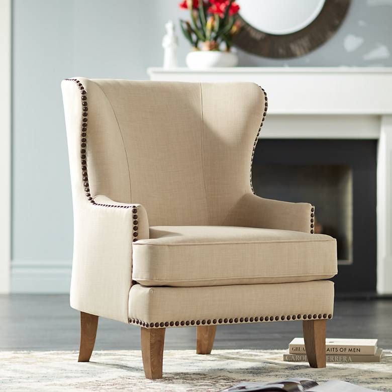 Julie Colony Linen Upholstered Accent Chair