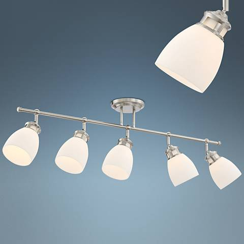 Pro Track Lighthouse Satin Nickel 5-Light Track Fixture