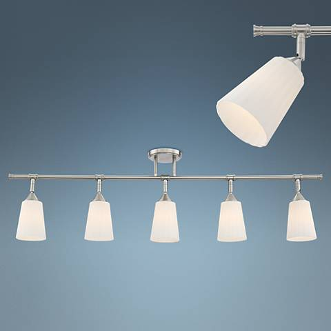 Pro Track Anna Satin Nickel 5-Light Track Light Fixture