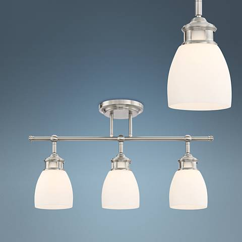 Pro Track Lighthouse Satin Nickel 3-Light Track Fixture