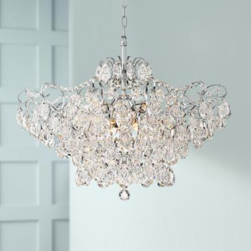 "Petunia 28"" Wide Chrome Crystal Chandelier"