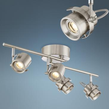 Pro Track Mason 4-Light Satin Nickel LED Track Light