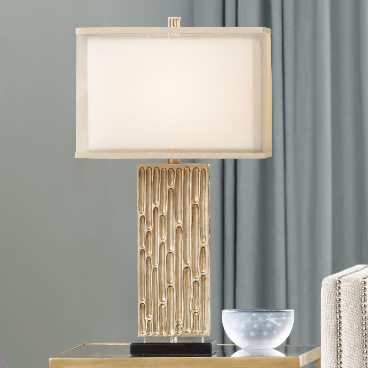 Possini Euro Celine Gold Wash Table Lamp