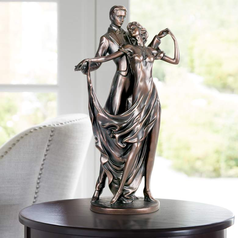 "Dancing Lovers 13 1/2"" High Accent Sculpture by Lamps Plus"