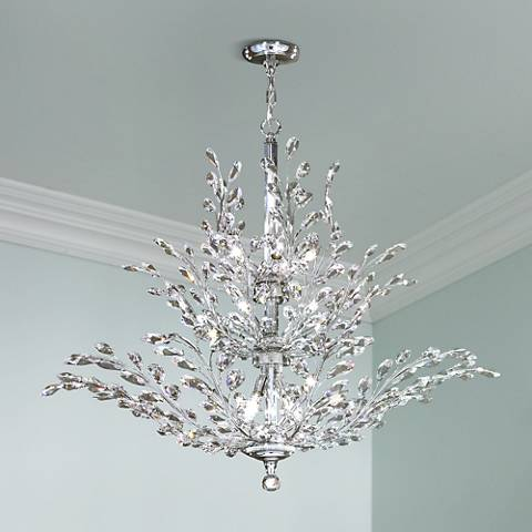 Upside Down Crystal Chandelier