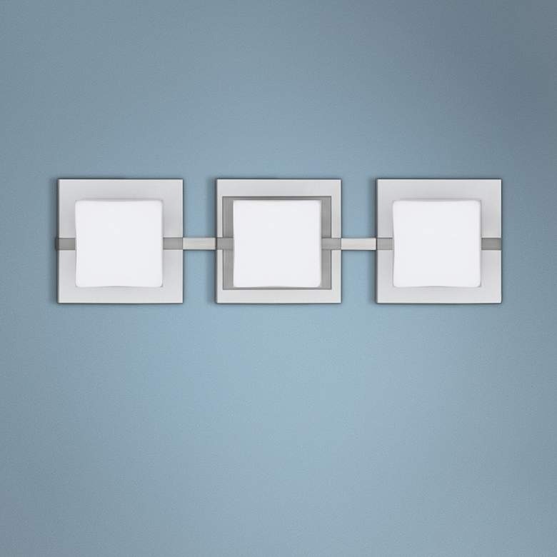 "Besa Alex 22 1/2"" Wide Satin Nickel 3-Light"