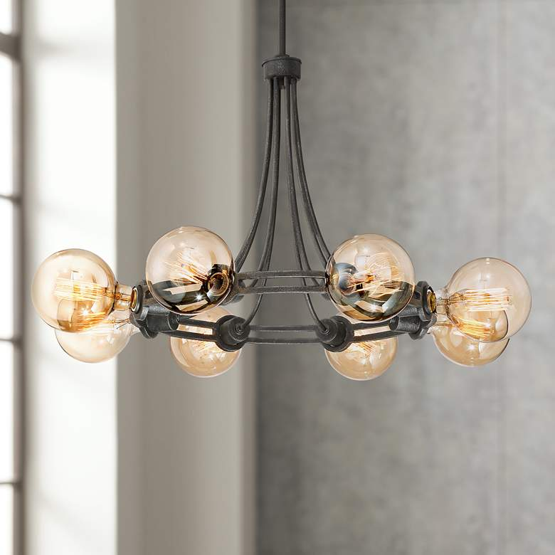 "Farley 30 1/2"" Wide Dark Bronze 8-Light Chandelier"