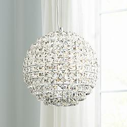 "Possini Euro Gorgo 12"" Wide Chrome Crystal Mini Pendant"