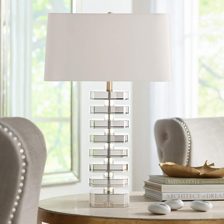 Arteriors Home Ferris Smoke and Champagne Crystal Table Lamp