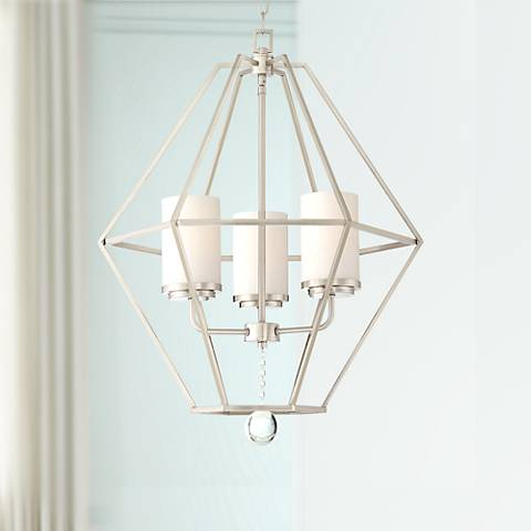 "Garnett 22 1/2"" Wide Brushed Nickel 3-Light Foyer Chandelier"