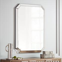 "Mirror's Edge 28"" x 40"" Rectangular Wall Mirror"