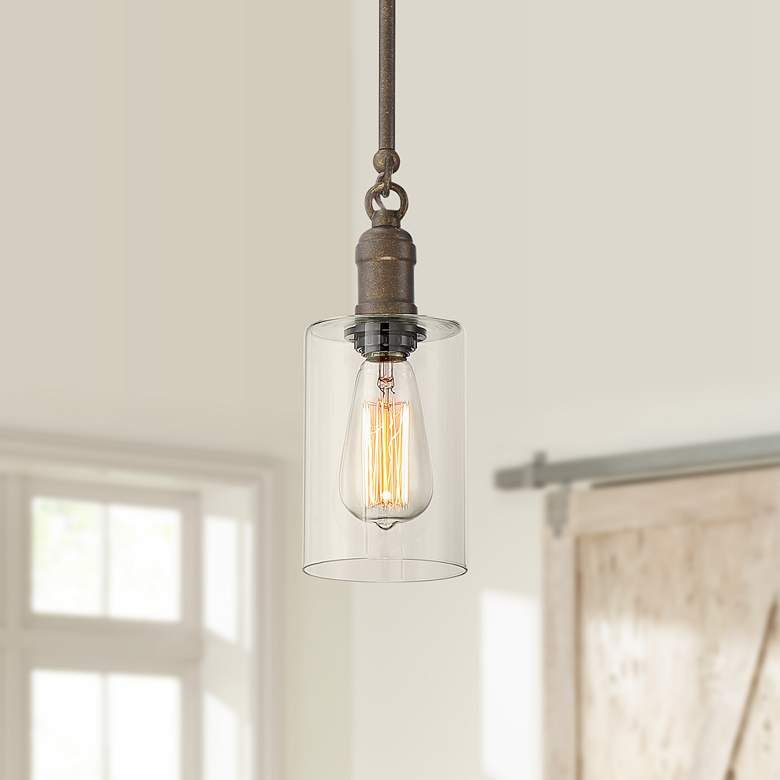 "Cloverly 4 1/4"" Wide Bronze LED Mini Pendant"