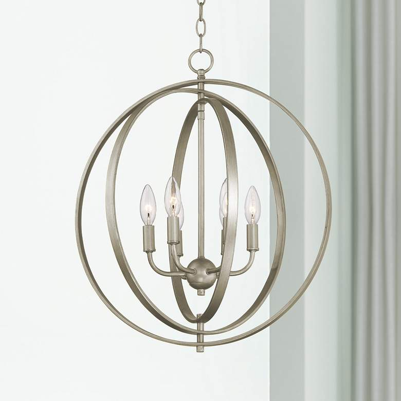 "Possini Euro Brockport 20 1/2""W Brushed Gold Foyer Pendant"