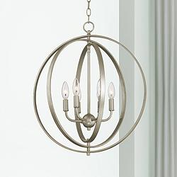 "Possini Euro Brockport 20 1/2"" Wide Orb Foyer Pendant"