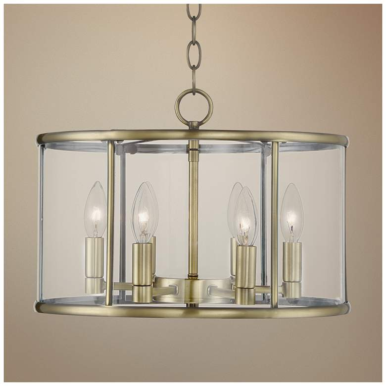 "Papineau 16"" Wide 6-Light Brass Pendant Light"