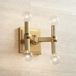 "Marya 5 1/2"" High Dark Satin Brass 4-Light Wall Sconce"