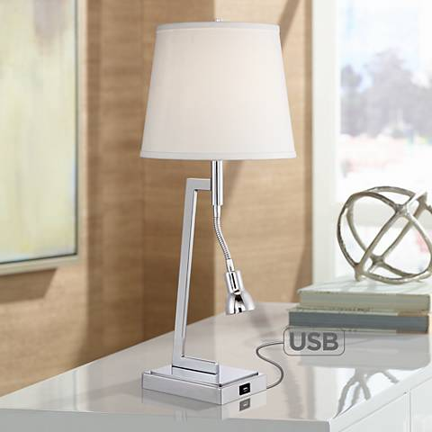 Specter Desk Lamp With Led Gooseneck Arm And Usb Port