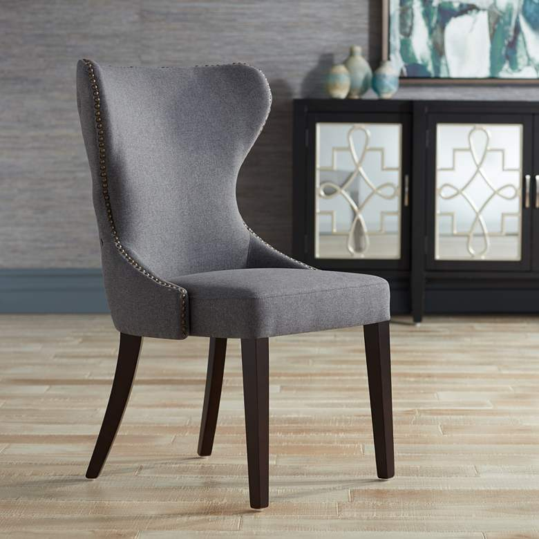 Ariana Dark Gray Fabric Dining Chair