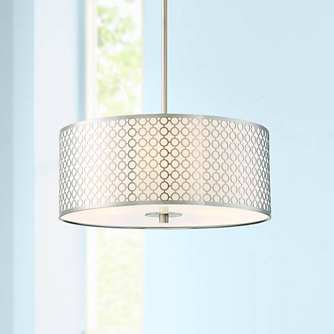 "George Kovacs Dots 18"" Wide Brushed Nickel Pendant Light"
