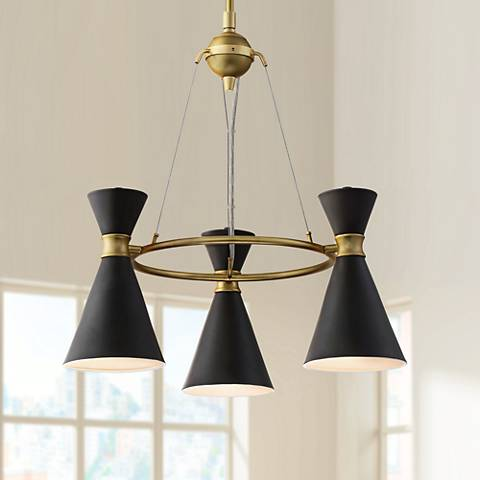 "George Kovacs Conic 20"" Wide Honey Gold Chandelier"
