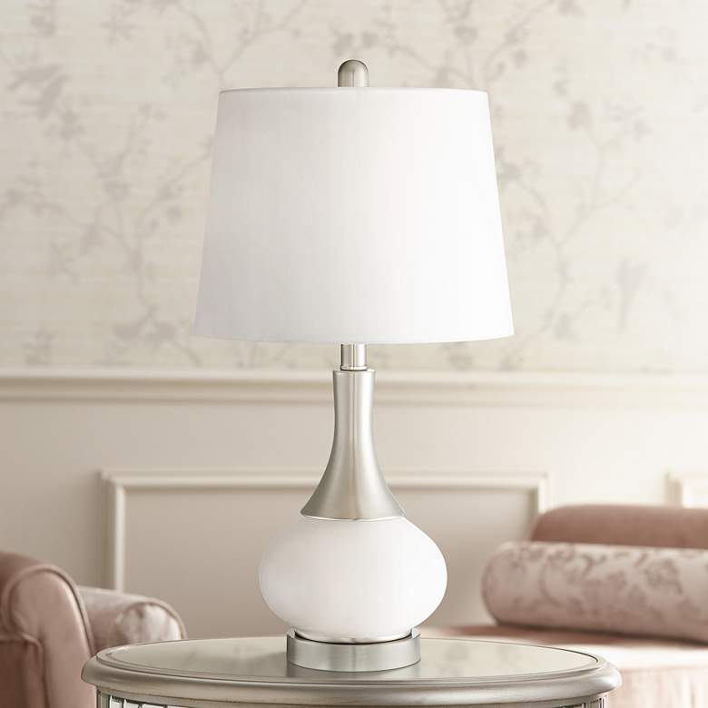 Serrena White Glass Night Light Table Lamp