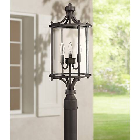 "Carlton 24"" High Aged Brushed Bronze Outdoor Post Light"