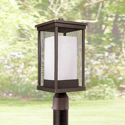 "Riviera II 18"" High Oiled Bronze Outdoor Post Light"