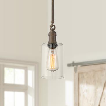 "Cloverly 4 1/4"" Wide Bronze LED Mini Pendant Light"