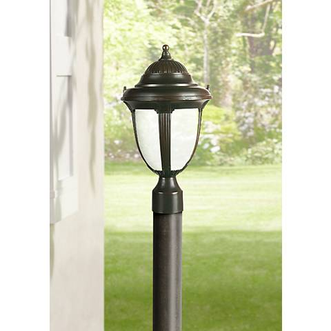 "Casa Sorrento™ 16 3/4"" High Bronze Post Mount Light"