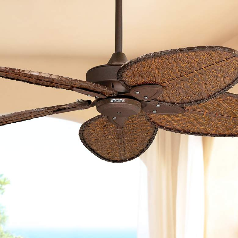 "52"" Fanimation Windpointe Rust Outdoor Ceiling Fan"