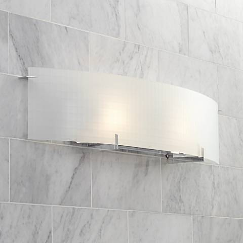 "Soho 33 3/4"" Wide Checkered Glass Bathroom Light Fixture"