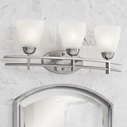 "Possini Euro Deco 23 1/2"" Wide Brushed Nickel Bath Light"