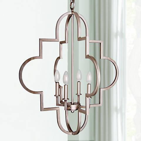 "Laura Lee Jennifer 24"" Wide Smooth Silver Pendant"