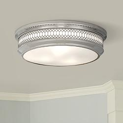 "Tucker 15 3/4""W Polished Nickel Ceiling Light"