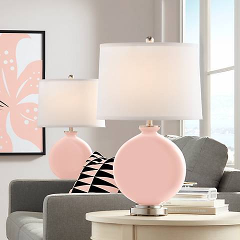 Rose Pink Carrie Table Lamp Set of 2