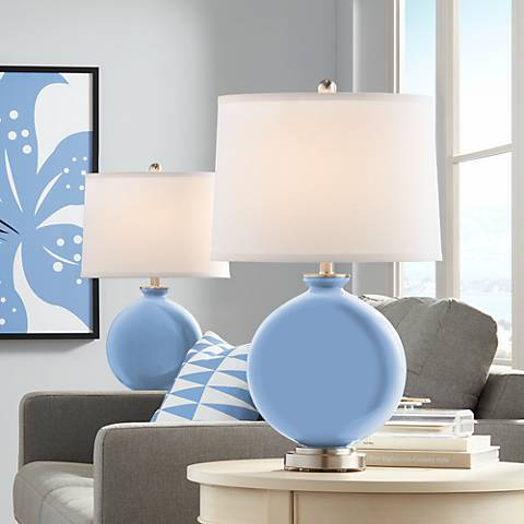 Placid Blue Carrie Table Lamp Set of 2