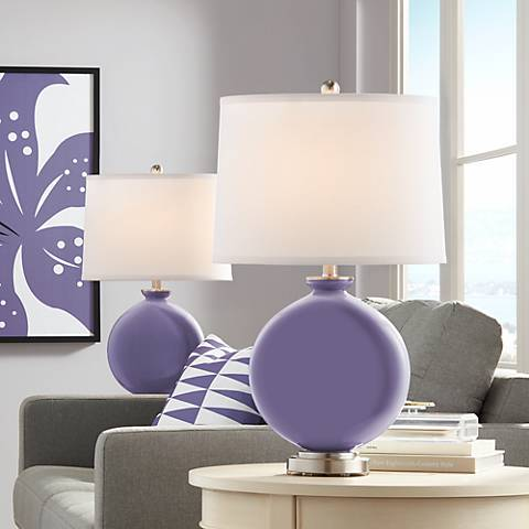 Purple Haze Carrie Table Lamp Set of 2