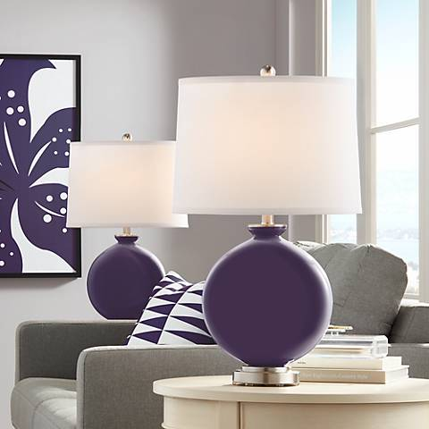Quixotic Plum Carrie Table Lamp Set of 2