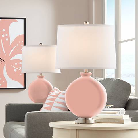 Mellow Coral Carrie Table Lamp Set of 2