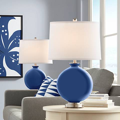 Monaco Blue Carrie Table Lamp Set of 2