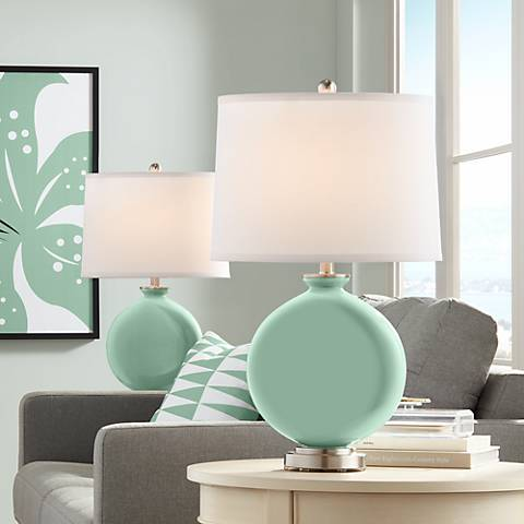 Grayed Jade Carrie Table Lamp Set of 2