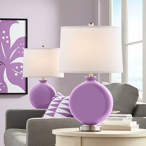 African Violet Carrie Table Lamp Set of 2