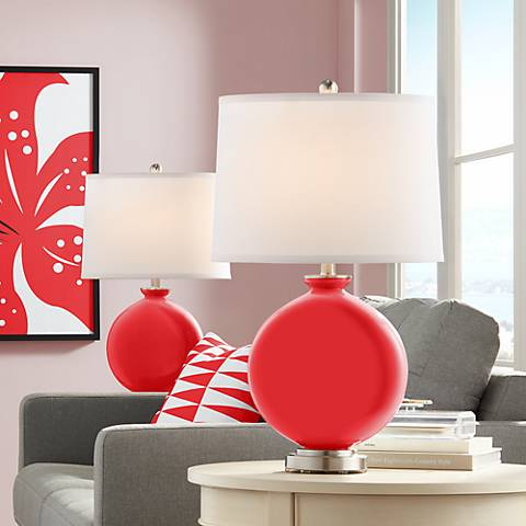 Poppy Red Carrie Table Lamp Set of 2