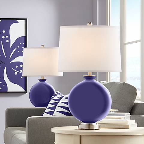 Valiant Violet Carrie Table Lamp Set of 2