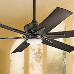 "60"" Kichler Szeplo II Olde Bronze Wet LED Ceiling Fan"