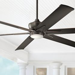 "80"" Kichler Szeplo II Olde Bronze Wet LED Ceiling Fan"